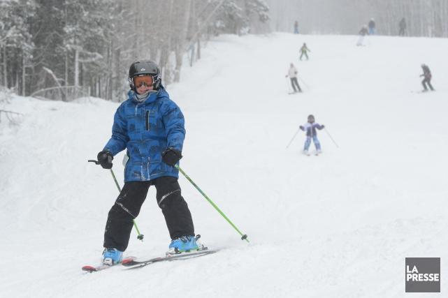 La seule station de ski qui était encore ouverte dans la région des... (Archives La Presse)