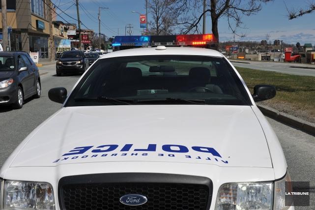 Une frappe policière lancée par le Service de police de Sherbrooke a permis de... (Archives La Tribune)