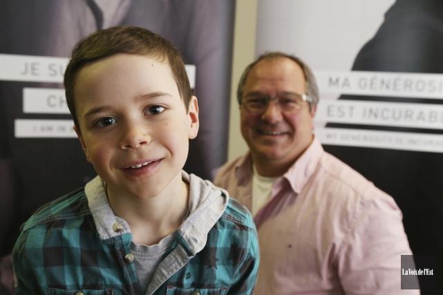 Le jeune Éliot Brodeur, six ans, agira à... (Janick Marois, La Voix de l'Est)