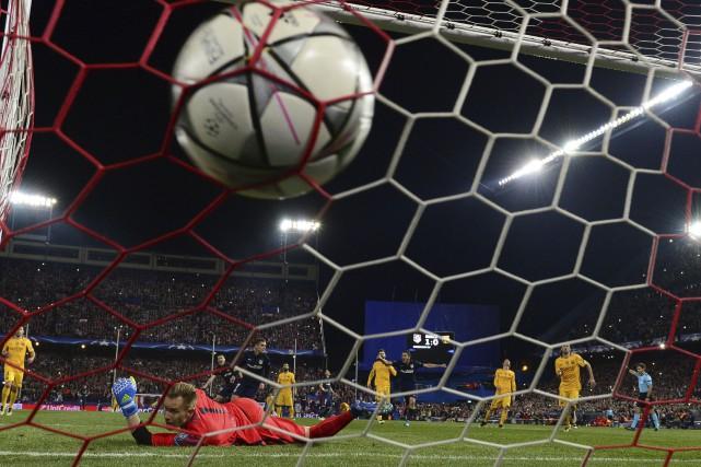 Antoine Griezmann a inscrit son deuxième but du... (AFP, Javier Soriano)