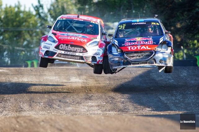 La jeune sensation du rallycross Timmy Hansen (à... (Olivier Croteau, Le Nouvelliste)