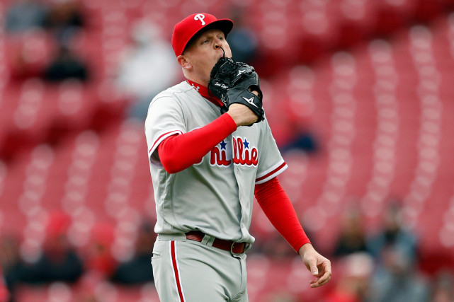 Le lanceur des Phillies de Philadelphie Daniel Stumpf a... (Photo Gary Landers, archives AP)