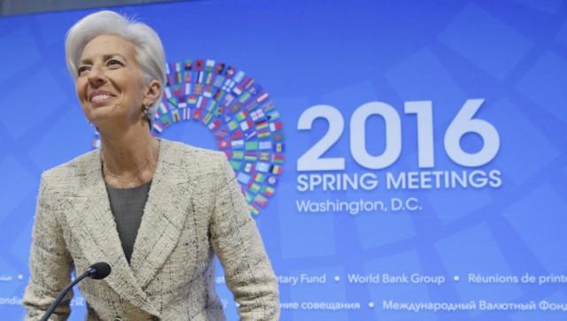 La directrice générale du Fonds monétaire international, Christine... (PHOTO JOSHUA ROBERTS, REUTERS)