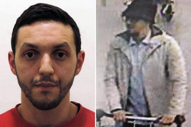 Mohamed Abrini, 31ans, est poursuivi pour son rôle... (PHOTO POLICE FÉDÉRALE BELGE VIA AGENCE-FRANCE PRESSE)