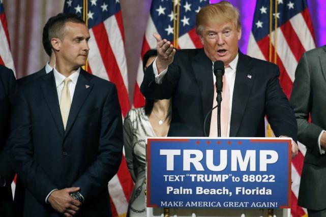Le désormais ex-directeur de campagne de DonaldTrump, Corey... (PHOTO JOE SKIPPER, ARCHIVES REUTERS)