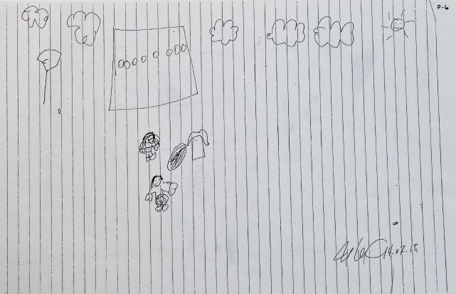 Ce dessin déposé en preuve a été réalisé... (Spectre Média, Jessica Garneau)
