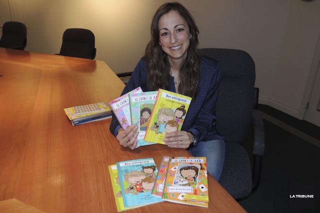 Julia Gagnon produit des livres jeunesse à un... (La Tribune, Ronald Martel)