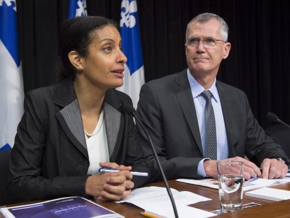 La ministre Dominique Anglade etle président d'Investissement Québec,... (La Presse Canadienne, Jacques Boissinot)