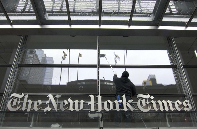 Le New York Times a maintenu une rédaction de quelque... (ARCHIVES REUTERS)
