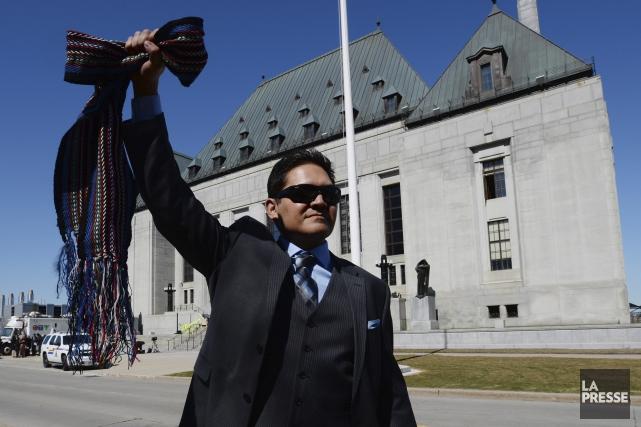 Les métis à travers le Canada ont accueilli... (Photo PC, Sean Kilpatrick)