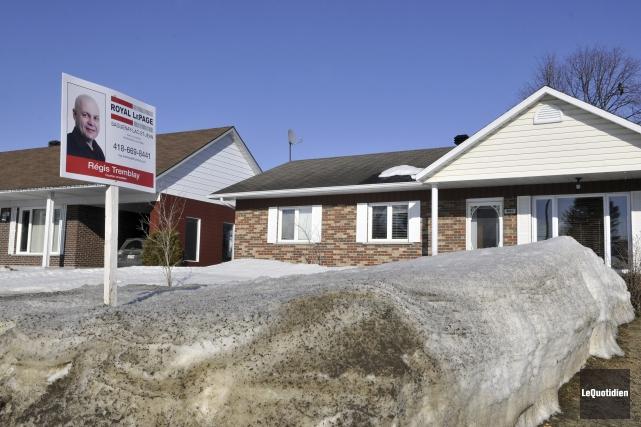 Les ventes résidentielles ont baissé de 9% lors... (Le Quotidien, Rocket Lavoie)