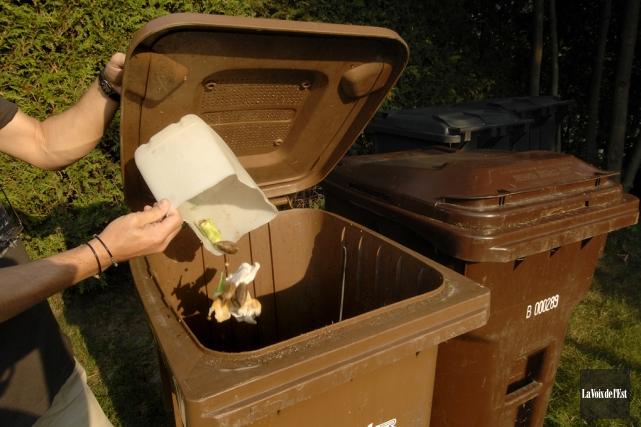 Les déchets de table et les résidus verts... (Archives La Voix de l'Est)