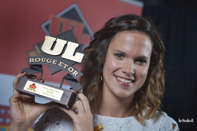 Geneviève Cantin a remporté les titres d'athlète de... (Le Soleil, Jean-Marie Villeneuve)