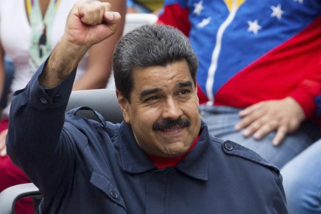 Le président du Venezuela, Nicolas Maduro... (AFP, Frederico Parra)