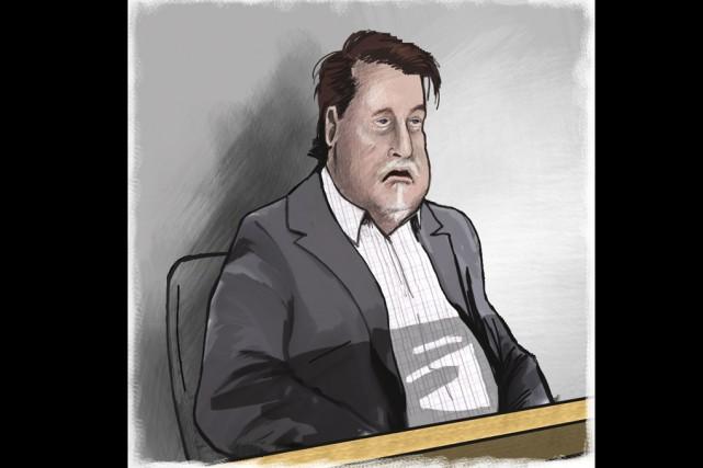 L'accusé s'est effondré à l'audition du verdict.... (Illustration Serge Paquette, Archives La Voix de l'Est)