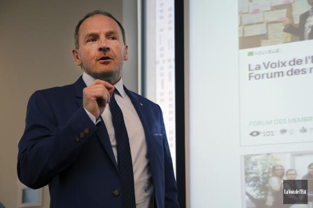 Le directeur général de la Caisse de Granby-Haute-Yamaska,... (Christophe Boisseau-Dion, La Voix de l'Est)