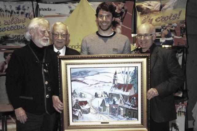 Une magnifique toile, signée par l'artiste peintre de... (Gilles Joubert)