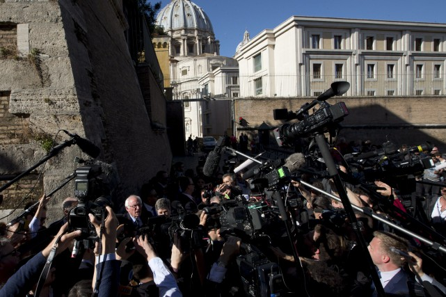 Bernie Sanders, qui est de confession juive, a... (AP, Alessandra Tarantino)