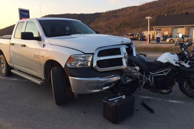 Un conducteur de 51 ans avec les capacités affaiblies a percuté une... (Police de la MRC des Collines)