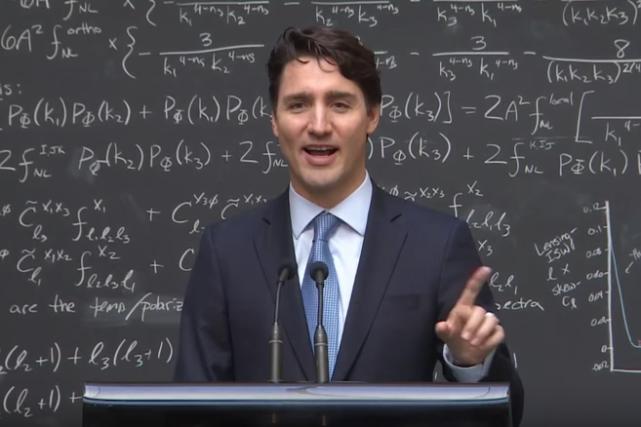 Justin Trudeau, qui se décrit lui-même comme un geek, a donné une leçon... (Image tirée d'une vidéo)