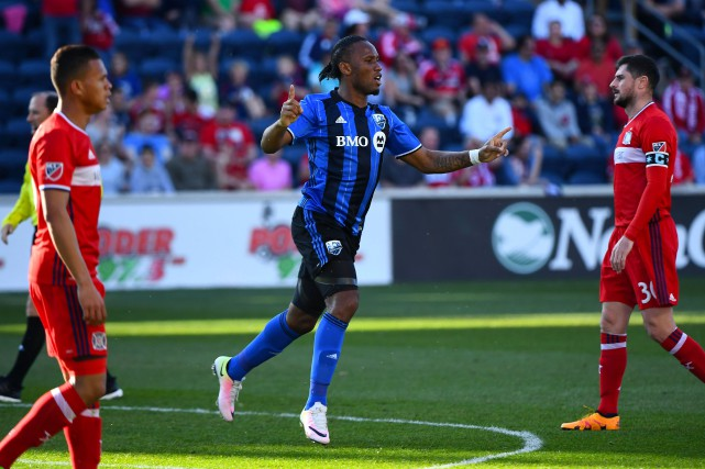 Didier Drogba, peu après son but, pendant la... (PHOTO MIKE DINOVO, USA TODAY SPORTS)