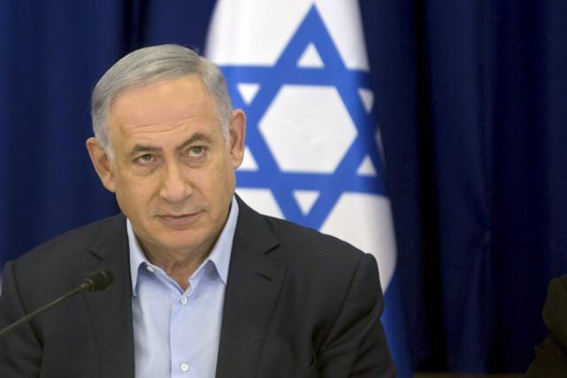 Le premier ministre israélien Benjamin Nétanyahou.... (PHOTO SEBASTIAN SCHEINER, REUTERS)