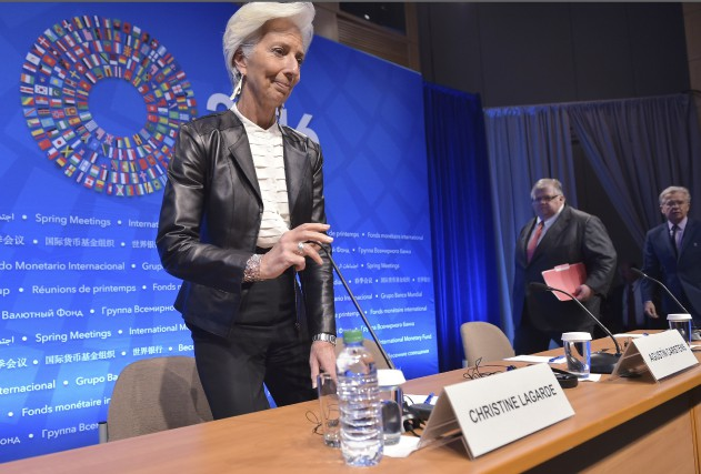 La patronne du FMI, Christine Lagarde... (AFP, Mandel Ngan)
