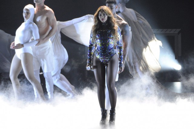 Beyonce en perfomance aux MTV Video Music Awards... (Archives Associated Press)