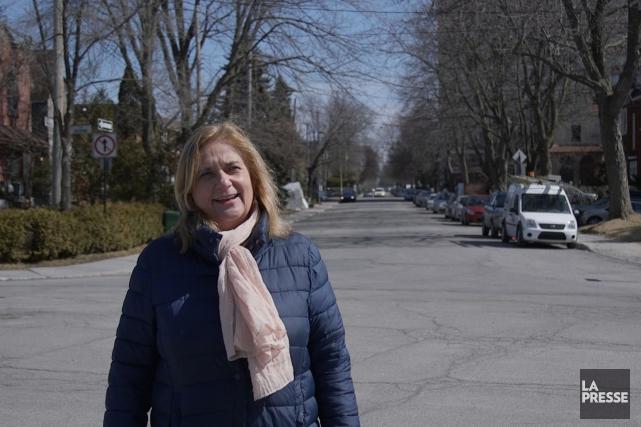 Nathalie Petrowski a campé son plus récent roman,... (Tirée d'une vidéo de Simon Giroux, La Presse)