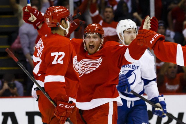 Les Red Wings de Detroit ont cogné plus fort, ont patiné plus vite et... (PHOTO REUTERS)