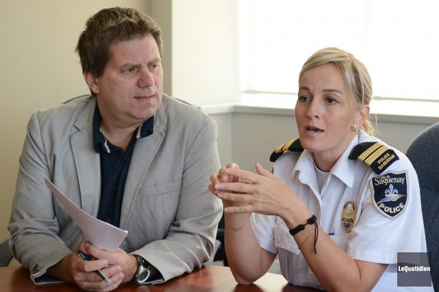 Sabrina Savard, lieutenante de la Sécurité publique de... (Archives Le Quotidien, Jeannot Lévesque)