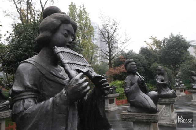 Parc Huanhuaxi.... (PHOTO SYLVAIN SARRAZIN, LA PRESSE)