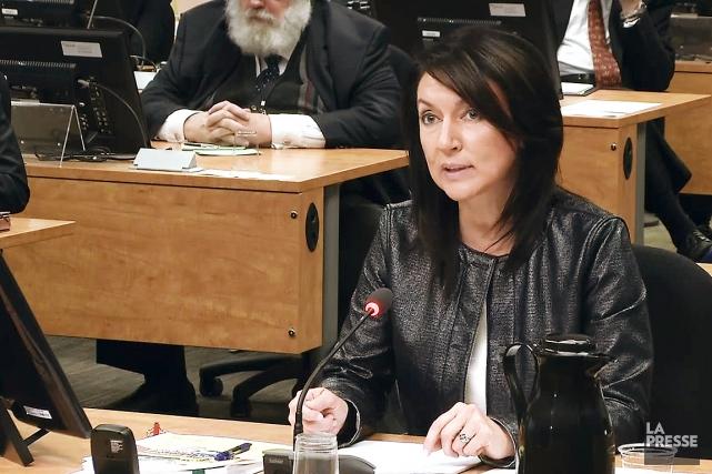 Nathalie Normandeau, ex-ministre, lors de son témoignage à... (IMAGE TIRÉE D'UNE VIDÉO, LA PRESSE)
