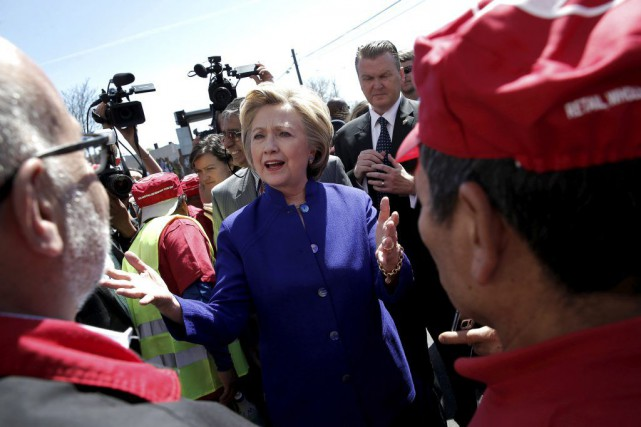Chez les démocrates, Hillary Clinton, sénatrice de New... (PHOTO MIKE SEGAR, REUTERS)
