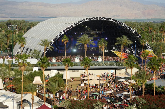 La scène Sahara de Coachella.... (PHOTO AP)