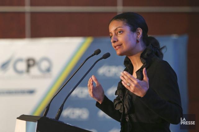 La ministre de l'Économie, Dominique Anglade, a insisté... (La Presse, Robert Skinner)