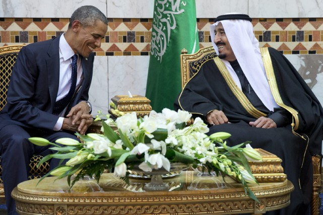 Barack Obama a rencontré le roi d'Arabie saoudite... (PHOTO AP)