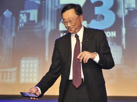 Le patron de BlackBerry,John Chen,estime que les firmes... (AFP, Adek Berry)