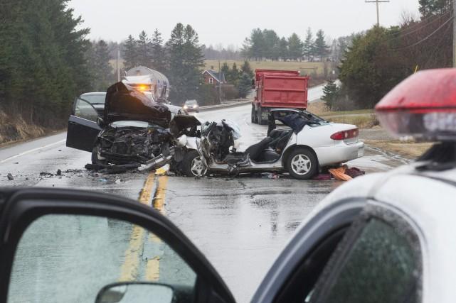 La collision, dont la cause est encore inexpliquée,... (Spectre Média, Julien Chamberland)