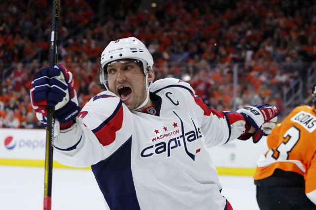 Alex Ovechkin a célébré un de ses deux... (Associated Press)