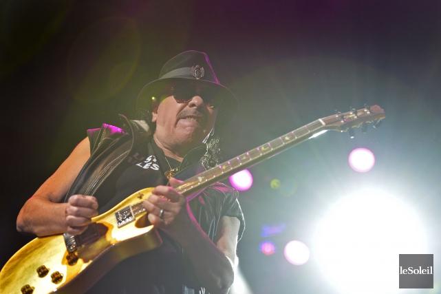 L'approche de Carlos Santana est sensiblement la même... (Le Soleil, Yan Doublet)