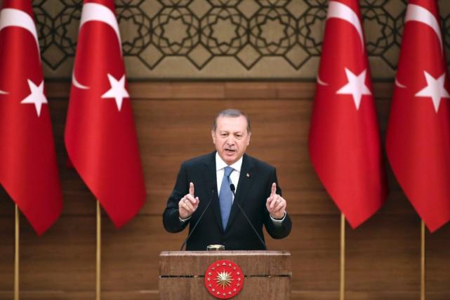 Le président turc Recep Tayyip Erdogan.... (PHOTO ADEM ALTAN, AFP)