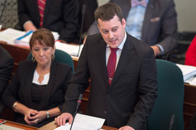 Le ministre des Finances de la Nouvelle-Écosse, Randy... (Photo Andrew Vaughan, PC)