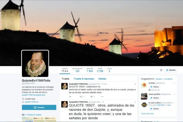 L'anniversaire des 400 ans de la mort de Miguel de Cervantes, le 22 avril,... (CAPTURE D'ÉCRAN)