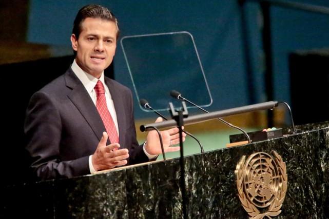 Pour le président mexicain Enrique Peña Nieto, «la... (PHOTO AFP)