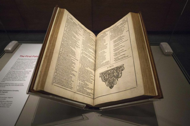 Le Premier Folio de William Shakespeare... (Jack Taylor, AFP)