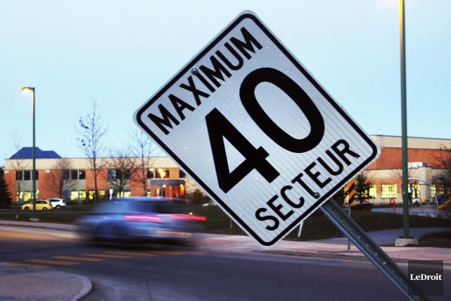 Pour les zones où la limite de vitesse... (Etienne Ranger, LeDroit)