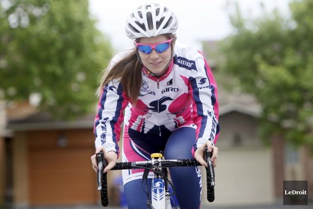La cycliste de Gatineau a remporté il y... (Simon Séguin-Bertrand, Archives LeDroit)