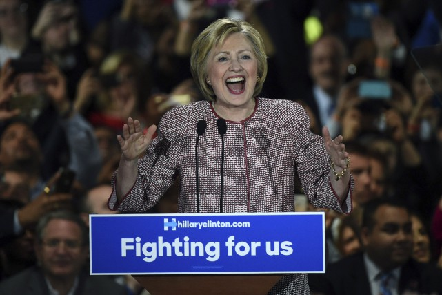La victoire de Hillary Clinton mardi la rend... (AFP , Timothy A. Clary)