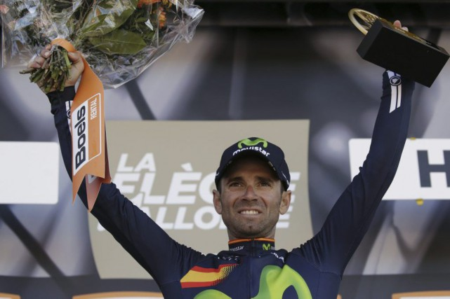 Alejandro Valverde... (Photo Kenzo Tribouillard, Agence France-Presse)